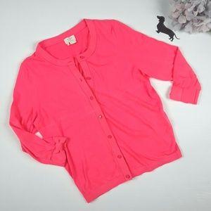 Kate Spade pink cardigan. Sz L.